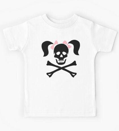 "Halloween ""Girl Skeleton With Pink Bows"" T-Shirt Kids Tee"