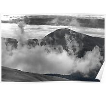 Ensconsed in Clouds Poster