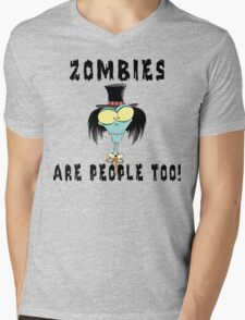 "Halloween ""Zombies Are People Too!"" T-Shirt Mens V-Neck T-Shirt"