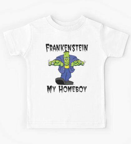 "Halloween ""Frankenstein Is My Homeboy"" T-Shirt Kids Tee"