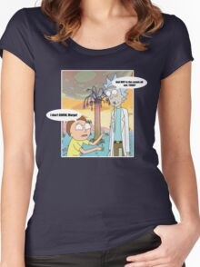 Rick Morty Vacation Women's Fitted Scoop T-Shirt