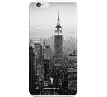 Sunset of Manhattan BW iPhone Case/Skin