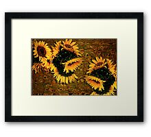 Sunflowers and Mexican Tile Framed Print