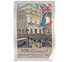 Cox & Co France Ld Emprunt national 1920 On y souscrit Poster