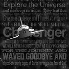 Space Shuttle Challenger Poster by Nick Sexton