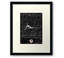 Space Shuttle Challenger Poster Framed Print