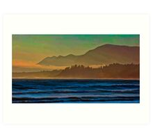 Misty Beach Art Print
