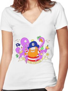 Pirate's need Vegetables Women's Fitted V-Neck T-Shirt