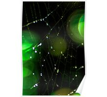 Glowing Spider Web Poster