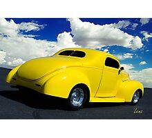 Yellow Hot Rod Photographic Print