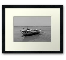 Old time fishing boat Framed Print