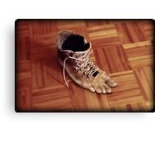 Run Rene boots run Canvas Print