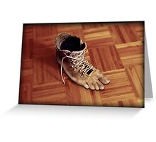 Run Rene boots run Greeting Card
