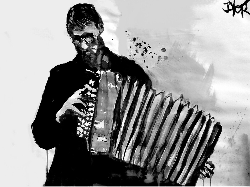 accordion player by Loui  Jover