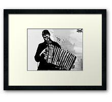 accordion player Framed Print