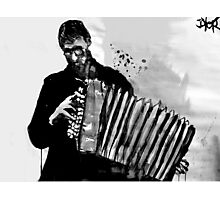 accordion player Photographic Print