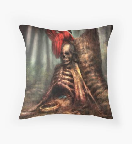 The Battle and the Bird Throw Pillow