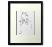 her pale virtue Framed Print