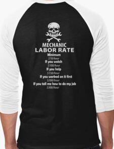 Mechanic Labour Rate Men's Baseball ¾ T-Shirt