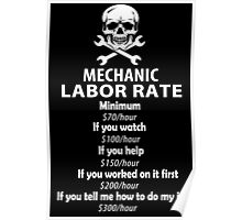 Mechanic Labour Rate Poster