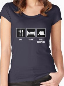 Eat Sleep Kill Campers Women's Fitted Scoop T-Shirt