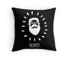 Beards. Throw Pillow