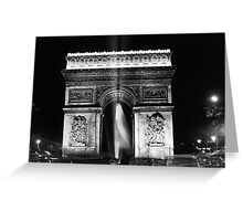 BW France Paris Triumphal arch 1970s Greeting Card