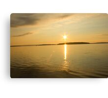 Rick Lake Ontario Sunset Canvas Print