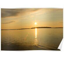 Rick Lake Ontario Sunset Poster