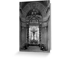 BW France Paris royal chapel altar St James Palace 1970s Greeting Card