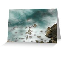 Byron Bay Midnight Ocean Rocks © Vicki Ferrari Greeting Card