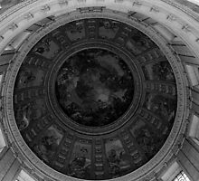 BW France Paris dome fresco Charles de la fosse 1970s by blackwhitephoto