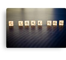 Scrabble Love Canvas Print