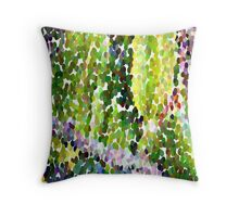 Carambola is a medium sized fruit beads pixel Throw Pillow