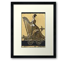 Magic Masquerade Train - Hannah & her Harp Framed Print