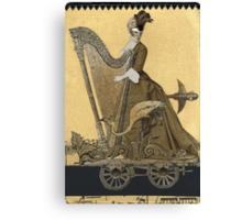 Magic Masquerade Train - Hannah & her Harp Canvas Print