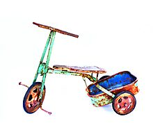 cool retro green trike Photographic Print