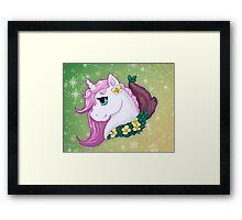 Unicorn Bust Framed Print
