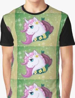 Unicorn Bust Graphic T-Shirt