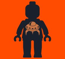 Minifig with Space Invader UFO Logo by Customize My Minifig by ChilleeW