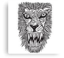 Monster Mondays #2 - Lionel Lion - Anger Monster! - BLACK LINES Canvas Print