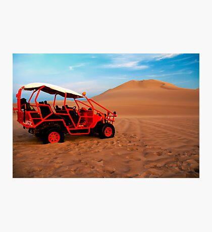 Dune buggy in Peruvian desert Photographic Print