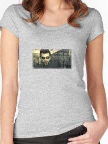 Deus Ex Death and Taxes Women's Fitted Scoop T-Shirt
