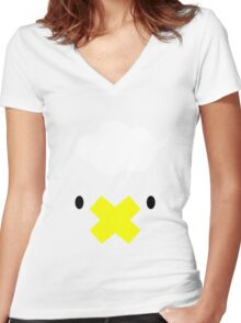 Pokemon - Drifloon / Fuwante Women's Fitted V-Neck T-Shirt