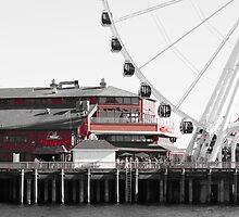 Seattle Great Wheel by Tim Cowley
