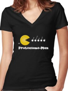 Proteasome-Man Women's Fitted V-Neck T-Shirt