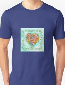 Flower Heart Unisex T-Shirt