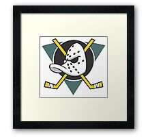 Mighty Ducks of Anaheim NHL Hockey League  Framed Print
