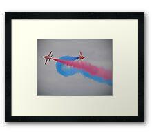 Smoke On Break ! Red Arrows - Dunsfold 2012 Framed Print