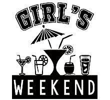 Girl's Weekend Photographic Print